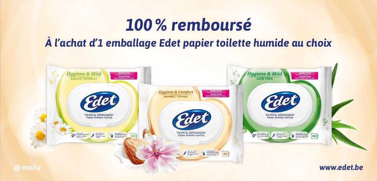Cashback Edet Papier Toilette Humide 100 Remboursé Myshopi