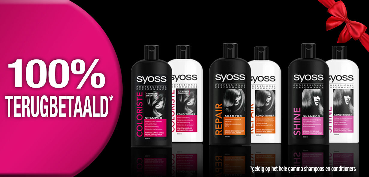 Syoss shampoos of conditioners