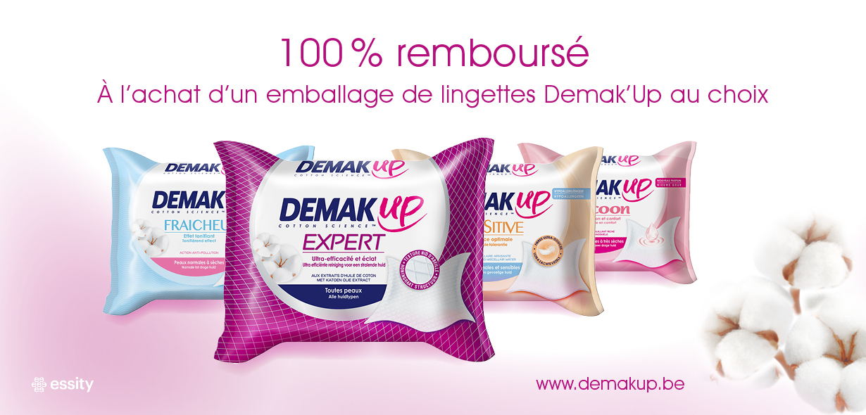 Demak'Up lingettes démaquillantes