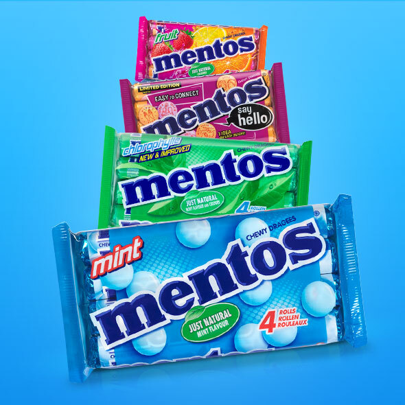 Mentos 4packs 1+1 gratis