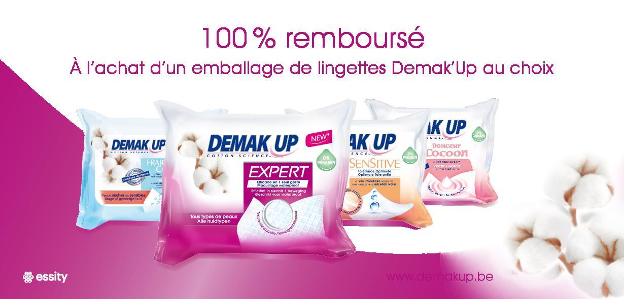 Demak-Up lingettes démaquillantes