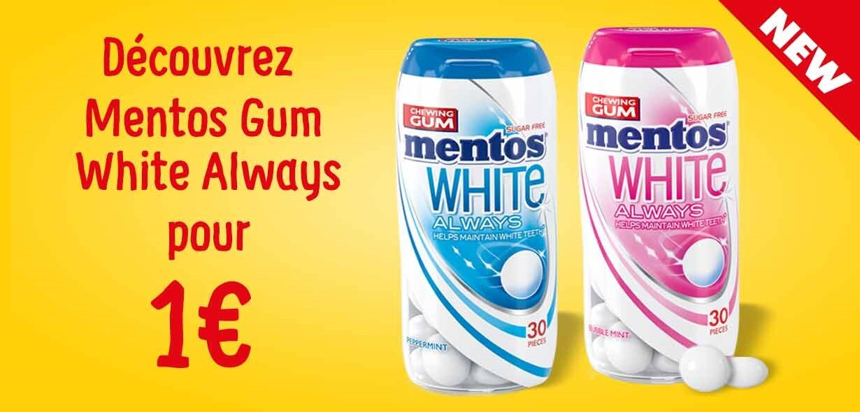 Mentos Gum White Always