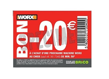 Coupon Brico : -20€ Workx