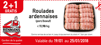 Coupon Renmans : Roulades Ardennaises