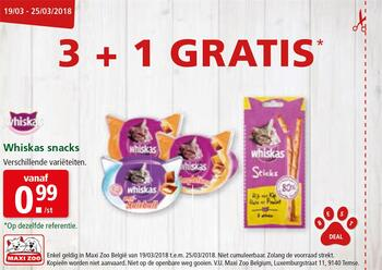 Maxi Zoo kortingsbon : Whiskas Snacks