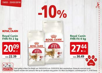 Maxi Zoo kortingsbon : Royal Canin PHN Fit