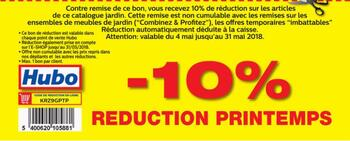 Coupon Hubo : -10% de réduction