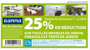 Coupon Gamma : 25% de réduction