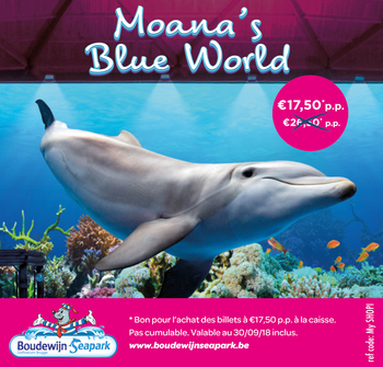 Coupon Boudewijn Seapark  : Coupon de réduction Moana