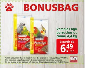 Coupon Maxi Zoo : Bonusbag