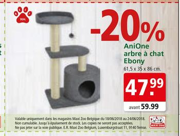 Coupon Maxi Zoo : Arbre à chat