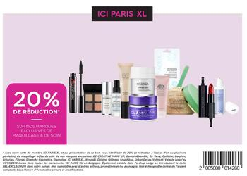 Coupon ICI PARIS XL : 20% de réduction sur nos marques exclusives