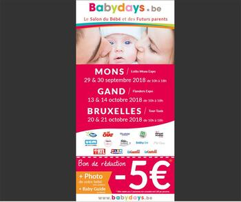 Coupon BabyDays : Baby days coupon de réduction 5€