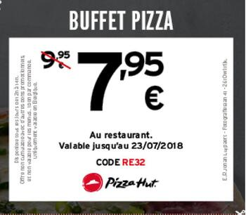 Coupon Pizza Hut : Buffet Pizza