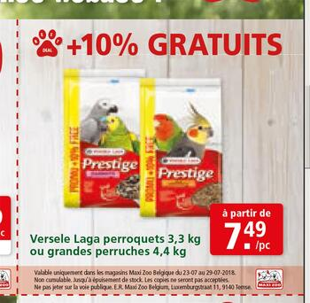 Coupon Maxi Zoo : Versele Laga perroquets FR 23-29-7