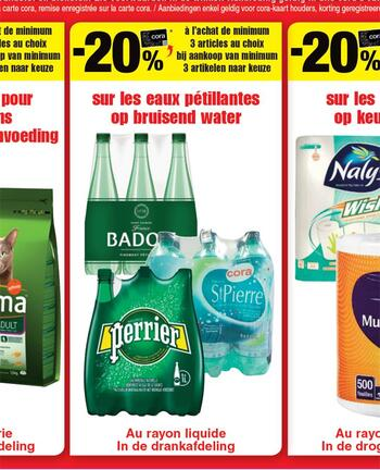 Coupon Cora : Perrier