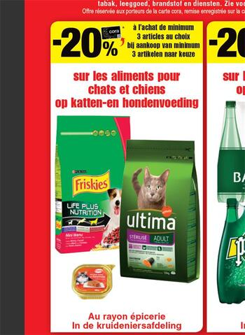 Coupon Cora : Aliments chat chiens