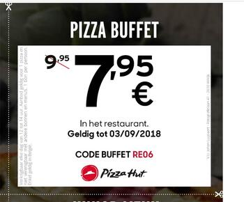 Pizza Hut kortingsbon : pizza buffet NL
