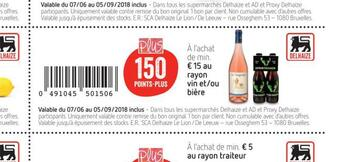 Coupon Delhaize : Vin biere