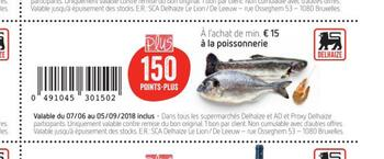 Coupon Delhaize : poisson
