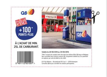 Coupon Delhaize : Q8