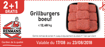 Coupon Renmans : Grillburgers boeuf