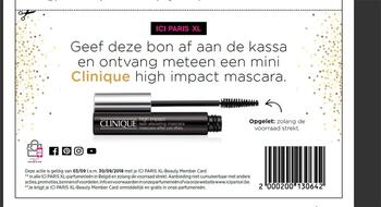 ICI PARIS XL kortingsbon : Mascara 3-9 tot 30-9