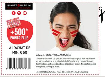Coupon Delhaize : +500 points