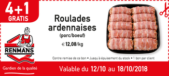 Coupon Renmans : Roulades