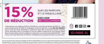 Coupon ICI PARIS XL : -15%