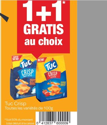 Coupon Carrefour : Tuc Crisp