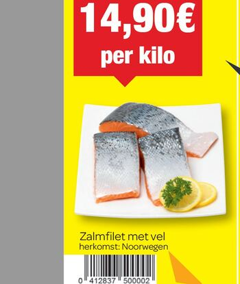 Carrefour kortingsbon : Zalmfilet