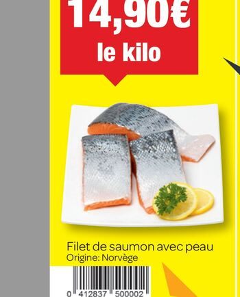Coupon Carrefour : Filet de saumon