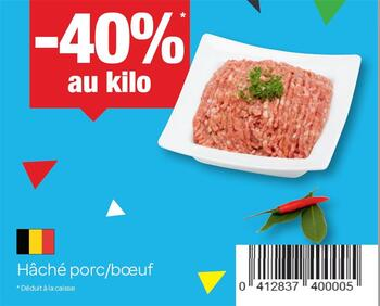 Coupon Carrefour : Hache porc