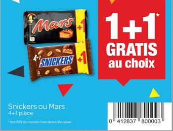 Coupon Carrefour : Snickers et mars