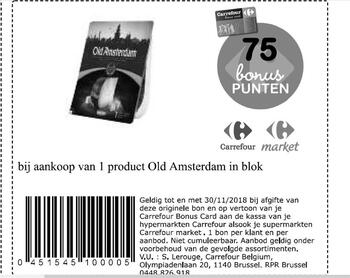 Carrefour kortingsbon : old amsterdam in blok