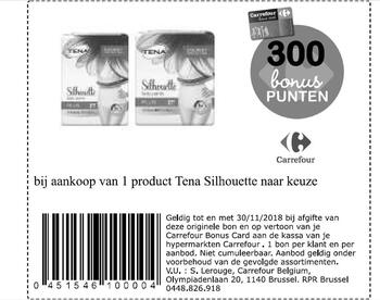 Coupon Carrefour : Tena Silhouette