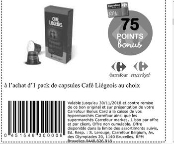 Coupon Carrefour : Café liegeois