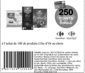Coupon Carrefour : Cote d'or 10€