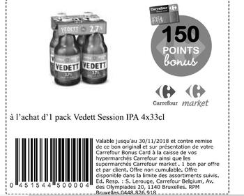 Coupon Carrefour : vedett ipa