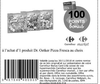 Coupon Carrefour : Dr oetker pizza fresca