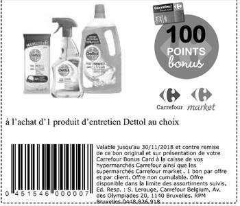 Coupon Carrefour : Dettol