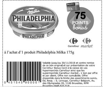 Coupon Carrefour : Philadelphia Milka