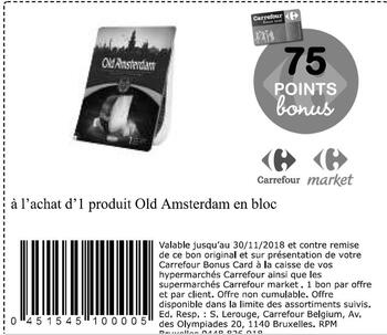 Coupon Carrefour : old amsterdam en bloc
