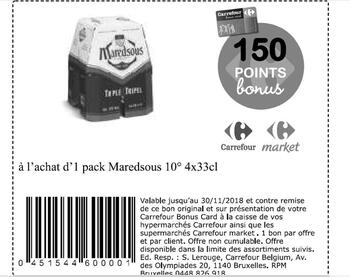 Coupon Carrefour : Maredsous
