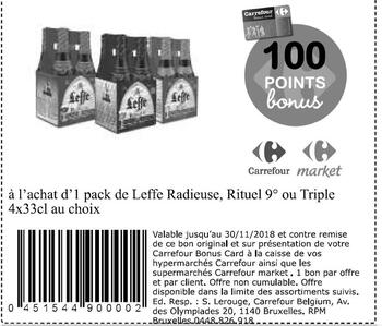 Coupon Carrefour : Leffe radieuse