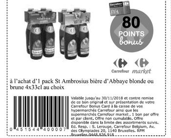 Coupon Carrefour : st ambrosius biere abbaye