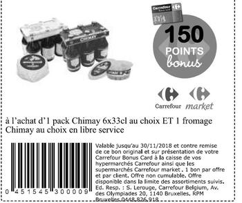 Coupon Carrefour : chimay biere et fromage