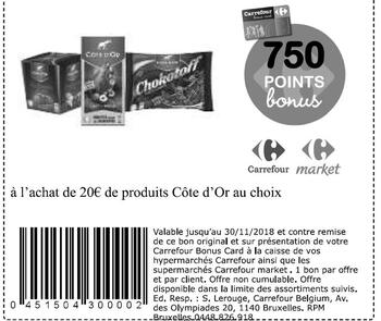 Coupon Carrefour : Cote d'or 20€