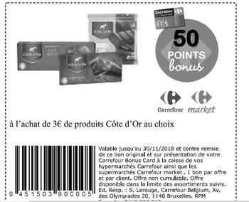 Coupon Carrefour : Cote d'or 3€